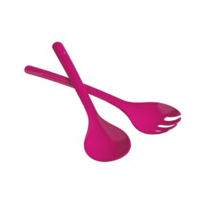 pink salad spoon and fork set